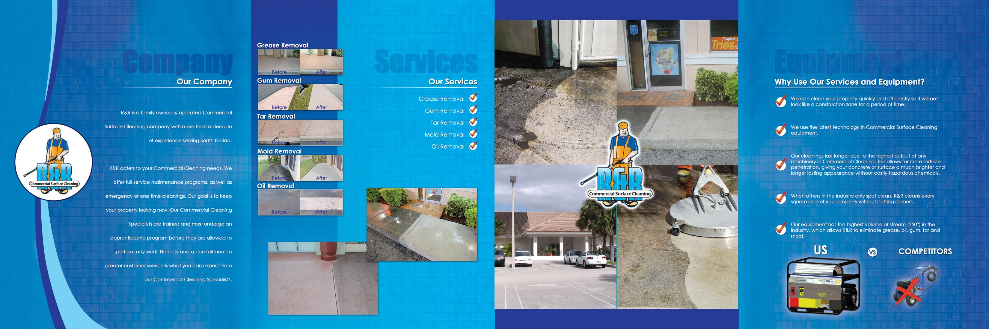 new water pressure cleaning brochure
